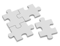 One separate. Four Puzzle on whihe background Stock Photography