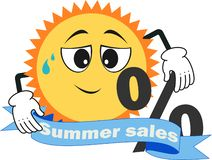 One september, summer sales, discounts stock illustration