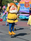 One of the Seven dwarfs jumps for joy. Royalty Free Stock Image
