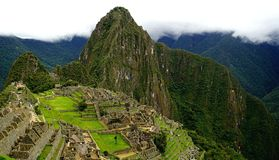 Machu Picchu. One of the seven wonders of the world stock photography