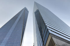 One and Seven World Trade Center Stock Photo