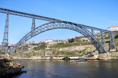 One of the several bridges over Douro river Royalty Free Stock Photo