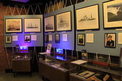 One of several displays honoring the Navy at the Albany Heritage Visitors Center, New York, 2016 Royalty Free Stock Photography