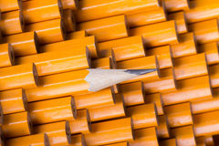 One sharpened pencil among many blunt Royalty Free Stock Images