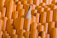 One sharpened pencil among many blunt Royalty Free Stock Photos