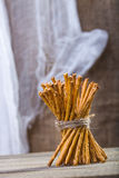 One sheaf of stick biscuits Stock Images