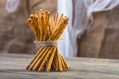 One sheaf of stick biscuits Stock Photos