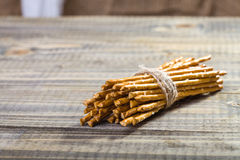 One sheaf of stick biscuits Royalty Free Stock Photos
