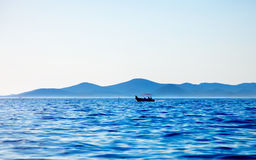 Relax on blue sea Stock Image