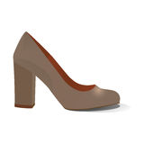 One shoe isolated on a white background. Vector illustration Royalty Free Stock Image