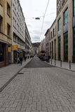 One of the shopping streets in the historical center. Stuttgart. Stock Image