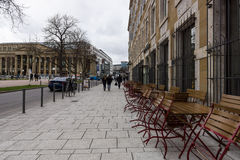 One of the shopping streets in the historical center. Stuttgart. Stock Photos