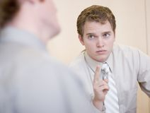 One shot. Young business people having a discussion Stock Photography