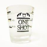 One Shot. Shot glass on white background Stock Images