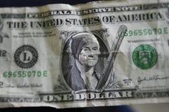 One sick dollar Royalty Free Stock Photos
