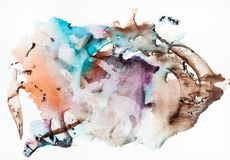 One side of abstract hand painted sheet of paper royalty free stock photography
