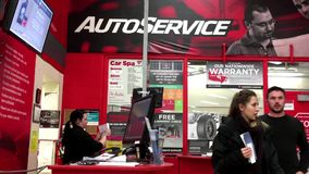 One side of auto service counter