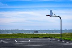 Basketball half court stock images