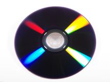 One side of a CD Royalty Free Stock Photography
