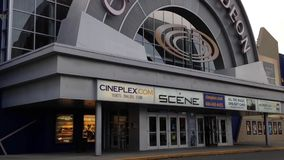 One side of cineplex odeon theater stock video footage