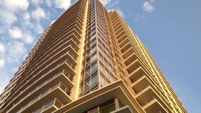 One side of high rise building stock footage
