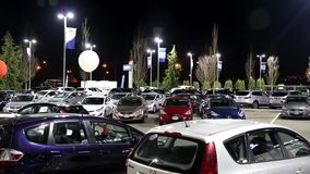 One side of Hyundai car dealership stock video