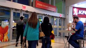 One side of mall entrance stock video footage