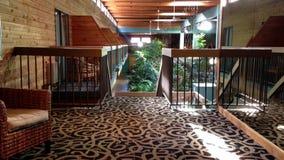 One side of motel inn interior stock video