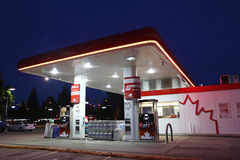 One side of Petro Canada gas station. On May 10, 2014. The company retained the Suncor Energy name for the merged corporation and its upstream operations Stock Photography