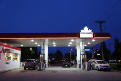 One side of Petro Canada gas station royalty free stock images