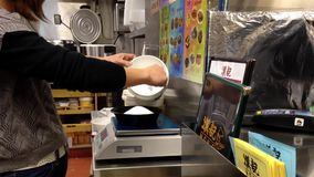 One side of restaurant kitchen stock video footage