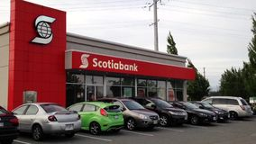 One side of Scotiabank stock video