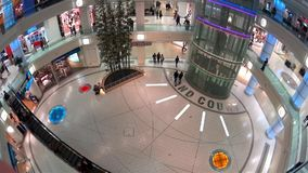 One side of shopping mall stock video footage