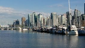 One side view of the Vancouver downtown skyline stock video footage
