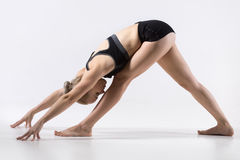 One Sided Fold Pose Stock Photography