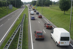 One sided traffic jam Stock Photo