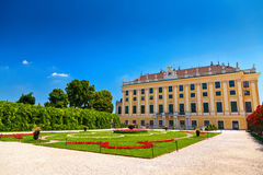 One of the sides of Schönbrunn palace Royalty Free Stock Images