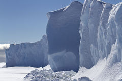 One of the sides of a small table iceberg frozen in Antarctic wa Royalty Free Stock Photos