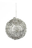 One silver Christmas ball Stock Images
