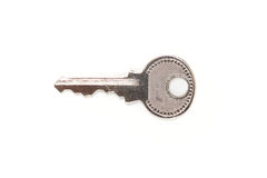One silver key royalty free stock image