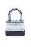 One silver padlock royalty free stock photography