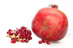 One simple pomegranate Royalty Free Stock Images