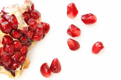 One simple pomegranate Stock Photography