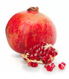 One simple pomegranate Stock Images