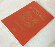 One Singapore passport Stock Photos