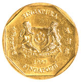 One singaporean dollar coin stock image