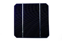 One single blue solar cell Royalty Free Stock Images