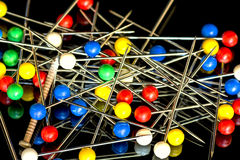 One single nail with many pins close up Stock Photography