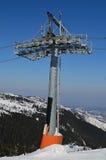 One single pillar of ski lift Stock Photo