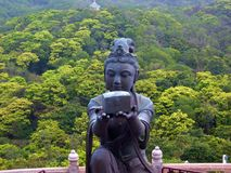 One of Six Deva Offerings. To the Big Buddha at Tien Tan, Lantau Island, Hong Kong Royalty Free Stock Images
